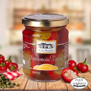 Piments forts farcis au thon, câpres et anchois, àl'huile d'olive extra vierge par Casa Rinaldi