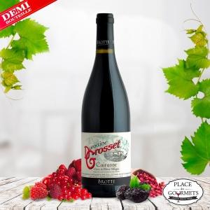 Demi-bouteille Domaine Grosset vin de Cairanne rouge 2015 Maison Brotte