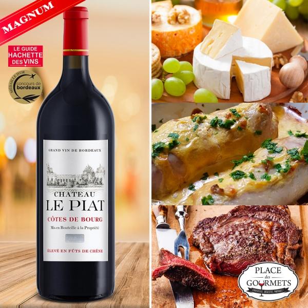 Magnum Château Le Piat Côtes de Bourg vin rouge 2011