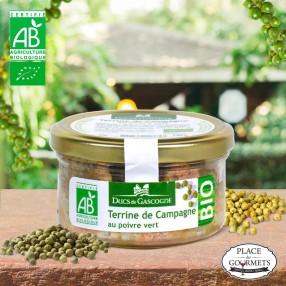 Terrine bio de Campagne au poivre vert 130 gr