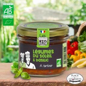 Crème à tartiner bio légumes du soleil au basilic