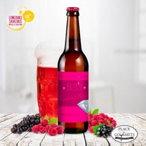 B33 Diamant rosé 33cl, bière aromatisée à la framboise
