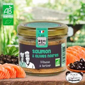 Mousse à tartiner bio saumon aux olives noires