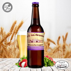 Ici on brasse bière Blanche Lager 75cl